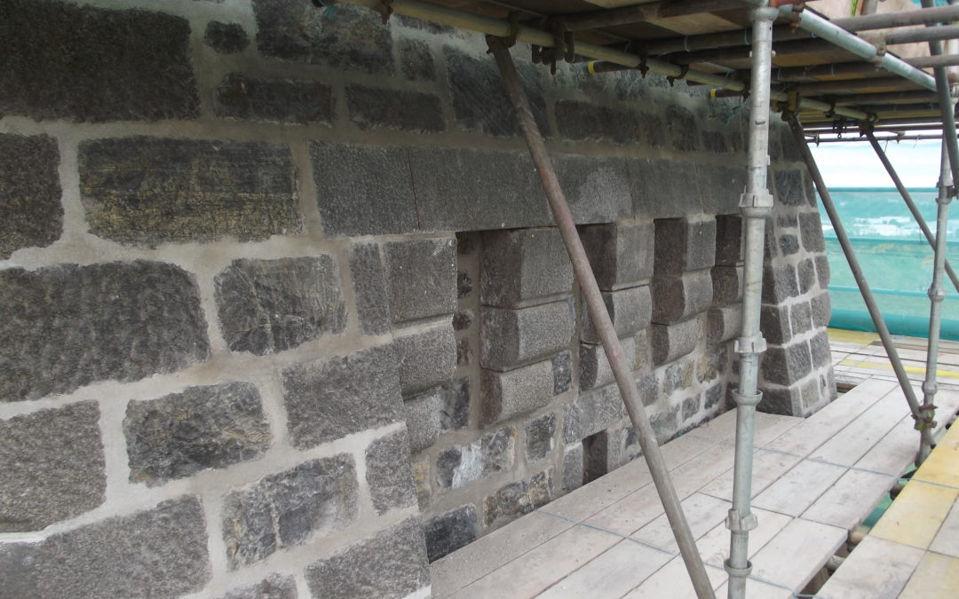 Lime Mortar Pointing – looking good at the Lewis War Memorial