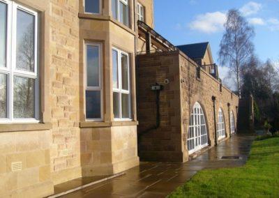 New build sandstone stone works Edinburgh