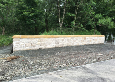 Reinstating and relocating stone walls